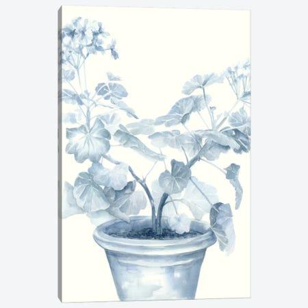 Blue Geranium I Canvas Print #MEA9} by Megan Meagher Canvas Art