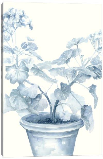 Blue Geranium I Canvas Art Print