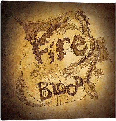House Targaryen - Fire and Blood Canvas Print #MEB10
