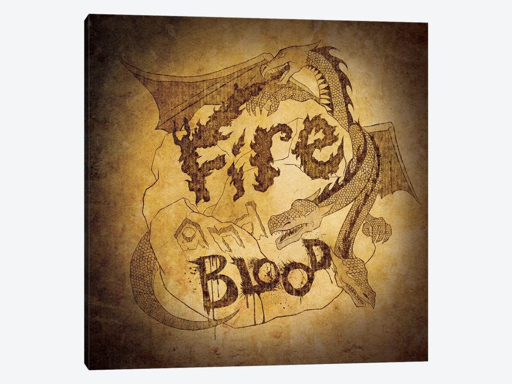House Targaryen - Fire and Blood by 5by5collective 1-piece Canvas Art Print