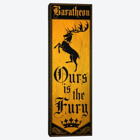 Banner of House Baratheon Canvas Print #MEB1} by 5by5collective Canvas Art Print