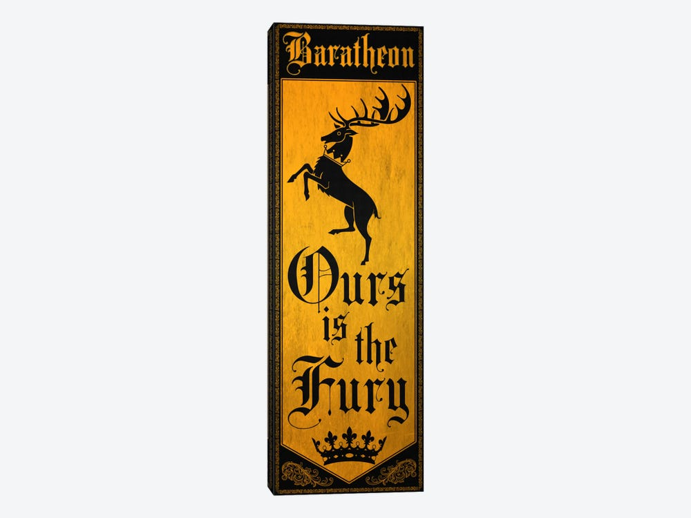 Banner of House Baratheon by 5by5collective 1-piece Canvas Print