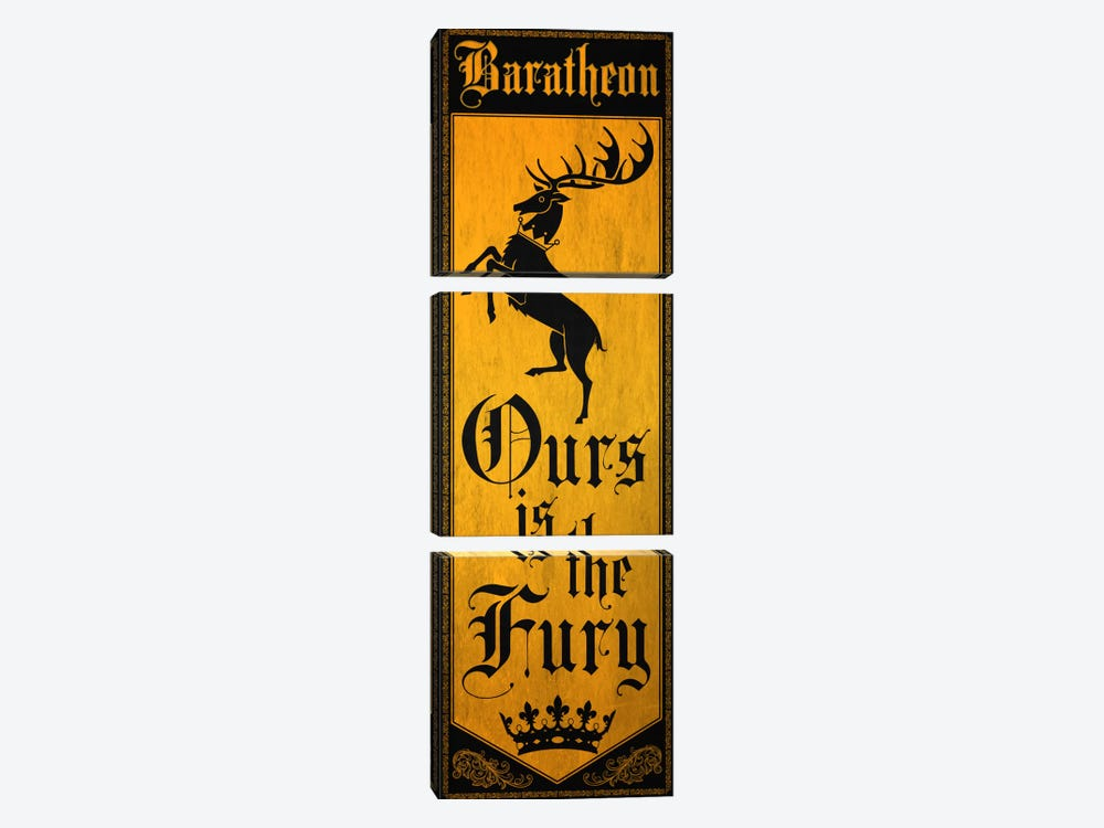 Banner of House Baratheon by 5by5collective 3-piece Canvas Art Print