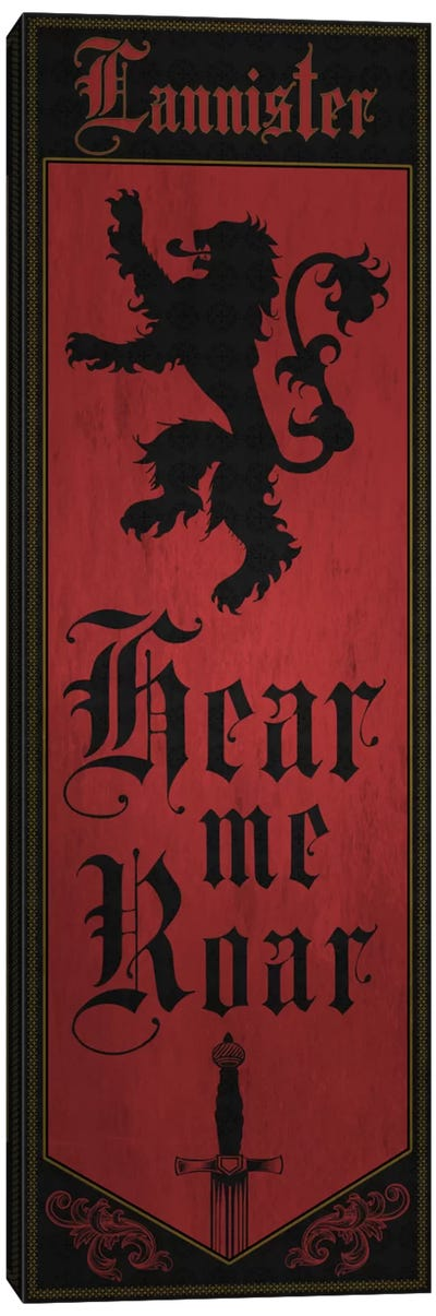Banner of House Lannister Canvas Print #MEB2
