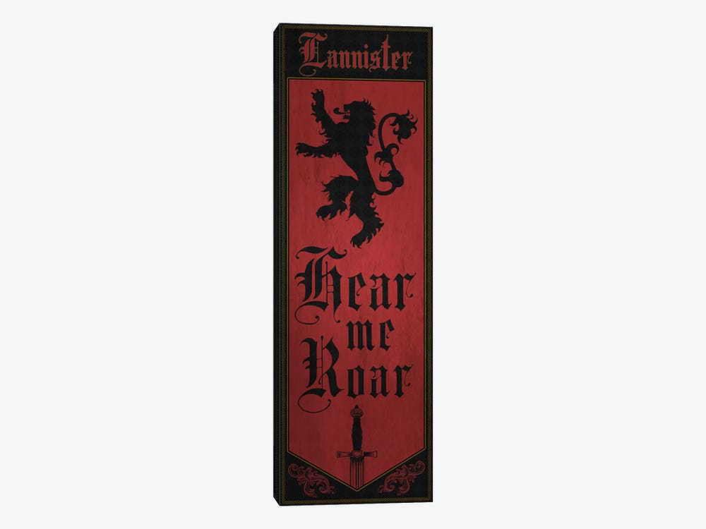 Banner of House Lannister by 5by5collective 1-piece Canvas Wall Art