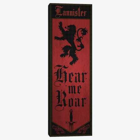 Banner of House Lannister Canvas Print #MEB2} by 5by5collective Canvas Art Print