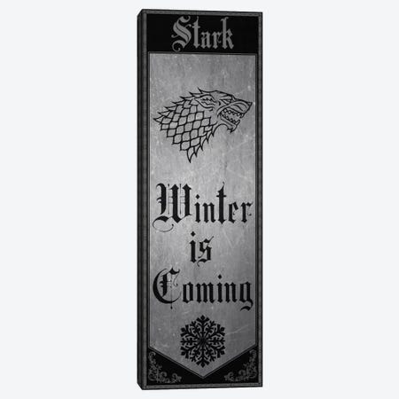 Banner of House Stark Canvas Print #MEB3} by 5by5collective Canvas Art Print