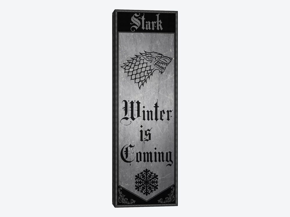Banner of House Stark by 5by5collective 1-piece Canvas Print