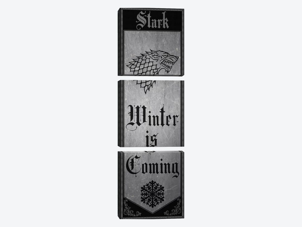Banner of House Stark by 5by5collective 3-piece Art Print