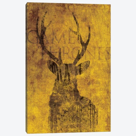 House Baratheon Canvas Print #MEB5} by 5by5collective Canvas Artwork