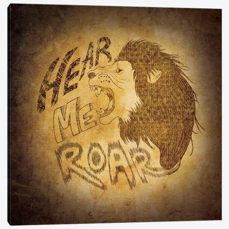 House Lannister - Hear Me Roar Canvas Print #MEB6} by 5by5collective Canvas Art