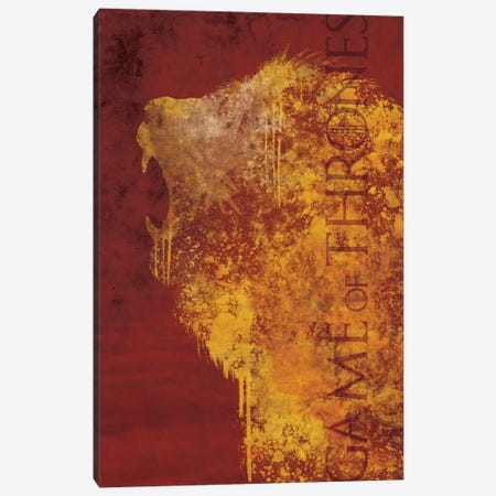House Lannister Canvas Print #MEB7} by 5by5collective Canvas Wall Art