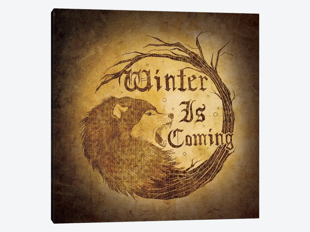 House Stark - Winter is Coming by 5by5collective 1-piece Canvas Art
