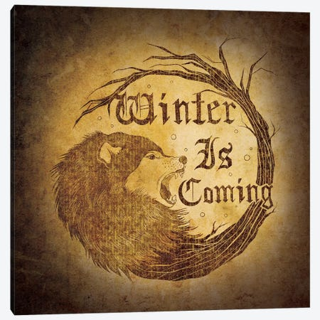House Stark - Winter is Coming Canvas Print #MEB8} by 5by5collective Art Print