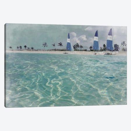 Beach Scene II Canvas Print #MEC114} by Marie Elaine Cusson Canvas Art