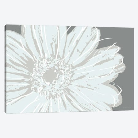 Flower Pop Sketch III-Greys Canvas Print #MEC119} by Marie Elaine Cusson Canvas Art Print