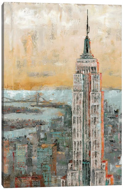 Empire State Building Abstract Canvas Art Print