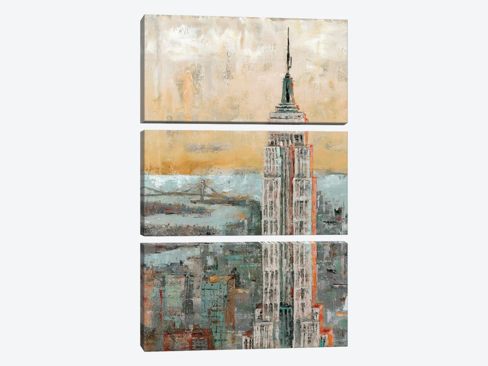 Empire State Building Abstract by Marie-Elaine Cusson 3-piece Canvas Art Print
