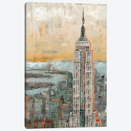 Empire State Building Abstract 3-Piece Canvas #MEC11} by Marie Elaine Cusson Canvas Artwork