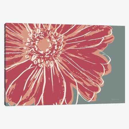 Flower Pop Sketch IV-Red Canvas Print #MEC120} by Marie Elaine Cusson Canvas Art