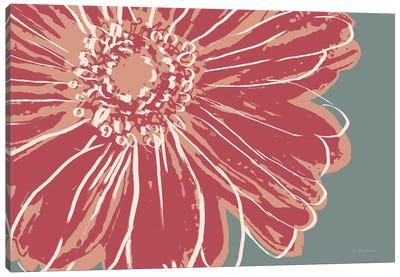Flower Pop Sketch IV-Red Canvas Art Print