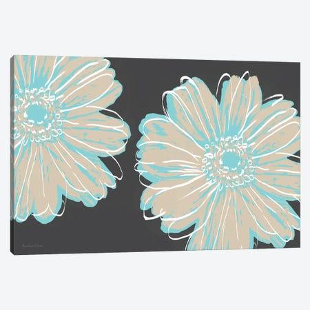 Flower Pop Sketch IX-Charcoal BG Canvas Print #MEC121} by Marie Elaine Cusson Canvas Artwork