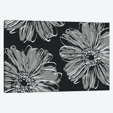 Flower Pop Sketch VII-Black BG Canvas Print #MEC122} by Marie Elaine Cusson Canvas Wall Art