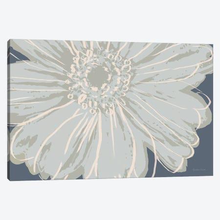 Flower Pop Sketch VIII-Blue BG Canvas Print #MEC123} by Marie Elaine Cusson Canvas Art
