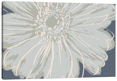 Flower Pop Sketch VIII-Blue BG Canvas Art Print