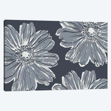 Flower Pop Sketch V-Shades of Grey Canvas Print #MEC124} by Marie Elaine Cusson Art Print