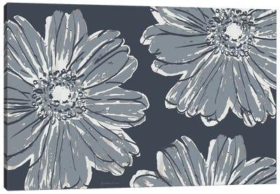 Flower Pop Sketch V-Shades of Grey Canvas Art Print