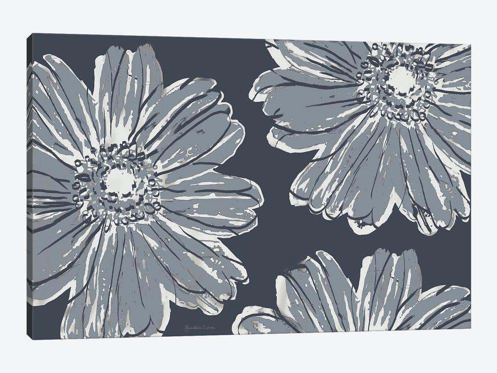 Flower Pop Sketch V-Shades of Grey by Marie Elaine Cusson 1-piece Canvas Print