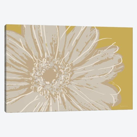 Flower Pop Sketch X-Yellow BG Canvas Print #MEC125} by Marie Elaine Cusson Art Print