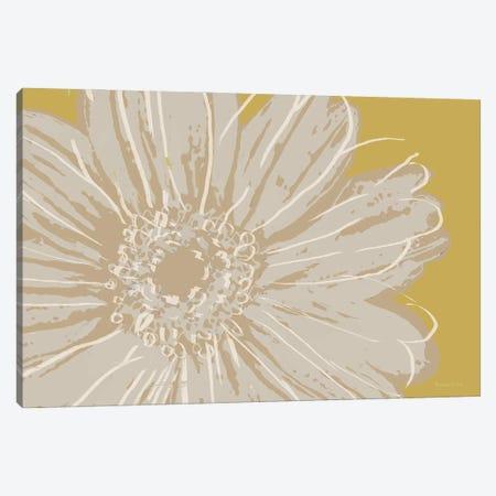 Flower Pop Sketch X-Yellow BG Canvas Print #MEC125} by Marie Elaine Cusson Art Print