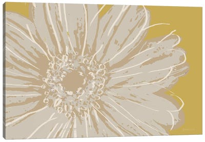 Flower Pop Sketch X-Yellow BG Canvas Art Print
