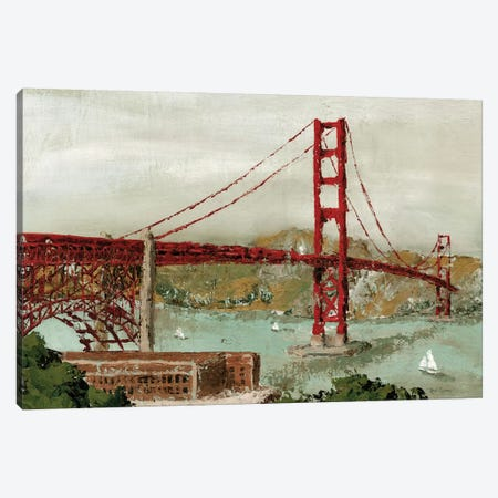 Golden Gate Bridge Canvas Print #MEC12} by Marie-Elaine Cusson Canvas Artwork