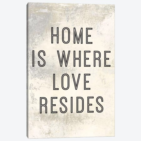 Home Is Where Love Resides Panel I Canvas Print #MEC13} by Marie Elaine Cusson Canvas Art