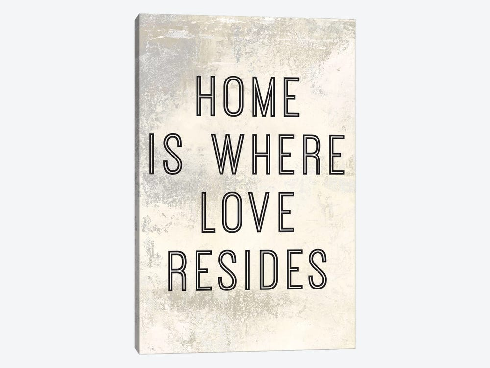Home Is Where Love Resides Panel I by Marie Elaine Cusson 1-piece Canvas Print