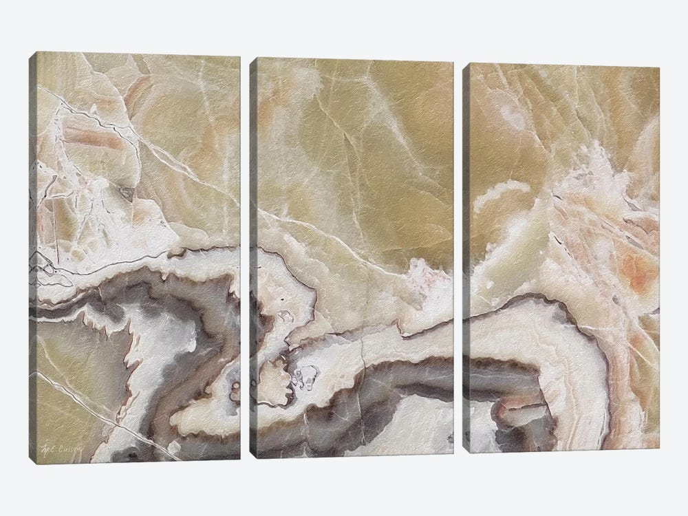 Marble Colors Brown V by Marie Elaine Cusson 3-piece Canvas Wall Art