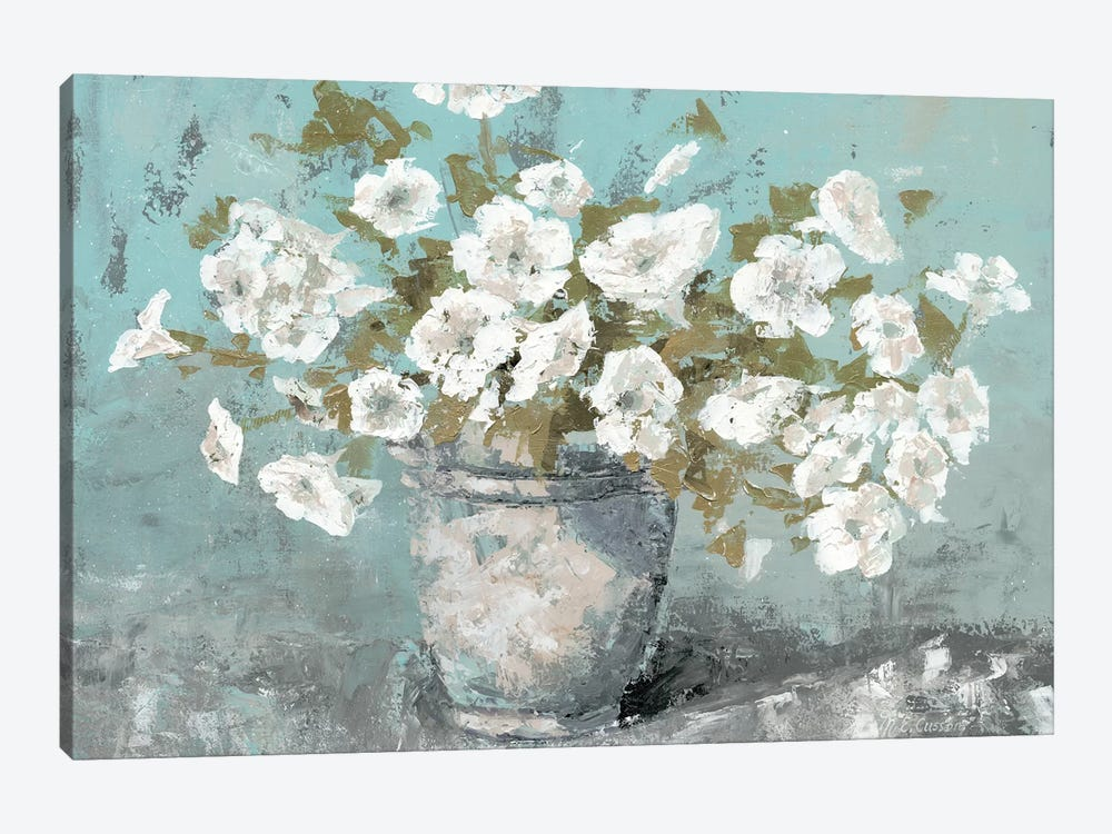 Morning Blossom Still Life by Marie Elaine Cusson 1-piece Canvas Print
