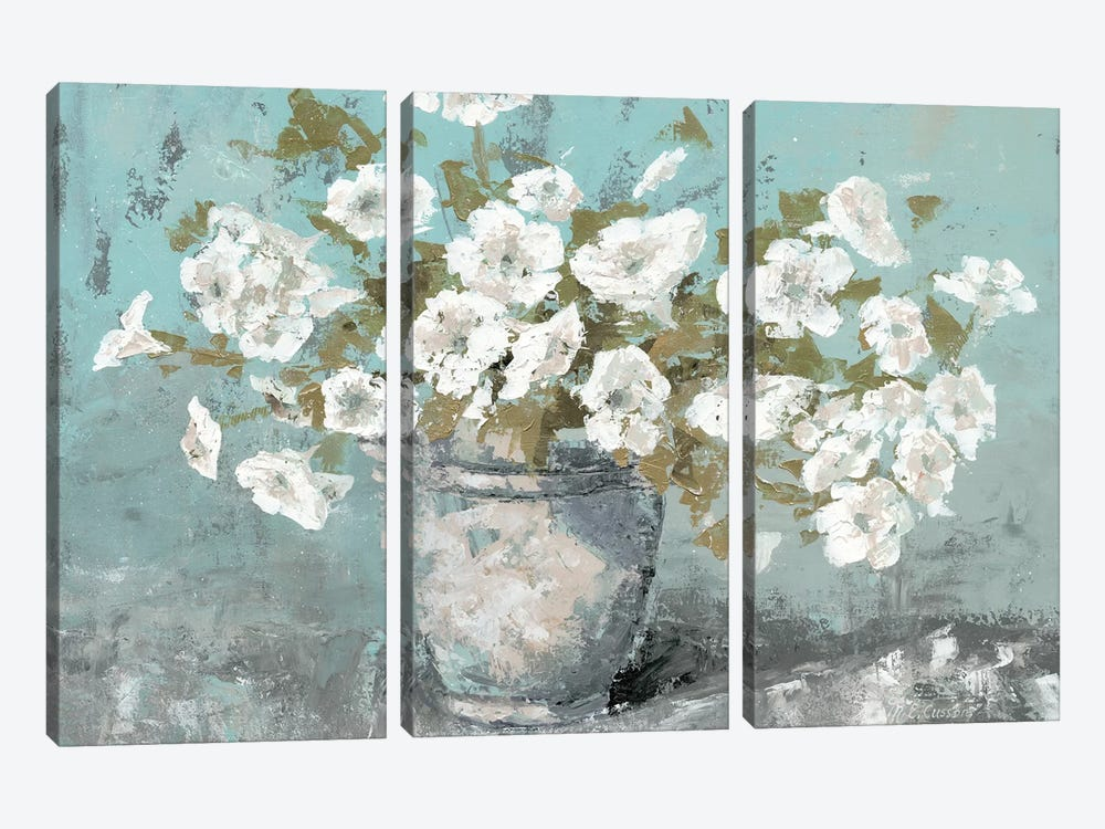 Morning Blossom Still Life by Marie Elaine Cusson 3-piece Art Print