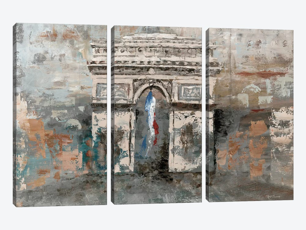 Arc de Triomphe by Marie-Elaine Cusson 3-piece Canvas Art