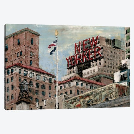 New Yorker Canvas Print #MEC22} by Marie-Elaine Cusson Art Print