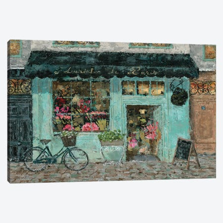 Parisian Flower Shop Canvas Print #MEC23} by Marie Elaine Cusson Canvas Art Print