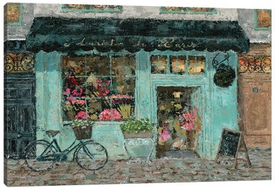 Parisian Flower Shop Canvas Art Print