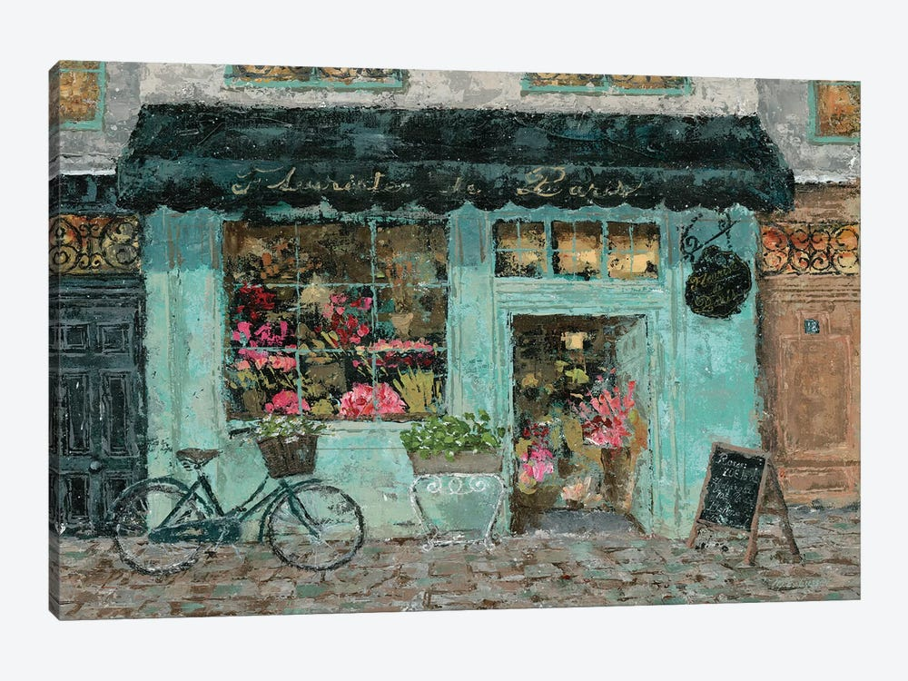 Parisian Flower Shop by Marie Elaine Cusson 1-piece Canvas Art