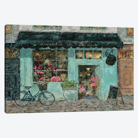 Parisian Flower Shop Canvas Print #MEC23} by Marie Elaine Cusson Canvas Art Print