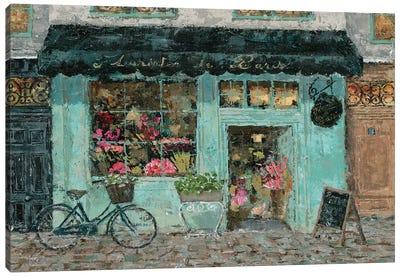 Parisian Flower Shop Canvas Art Print