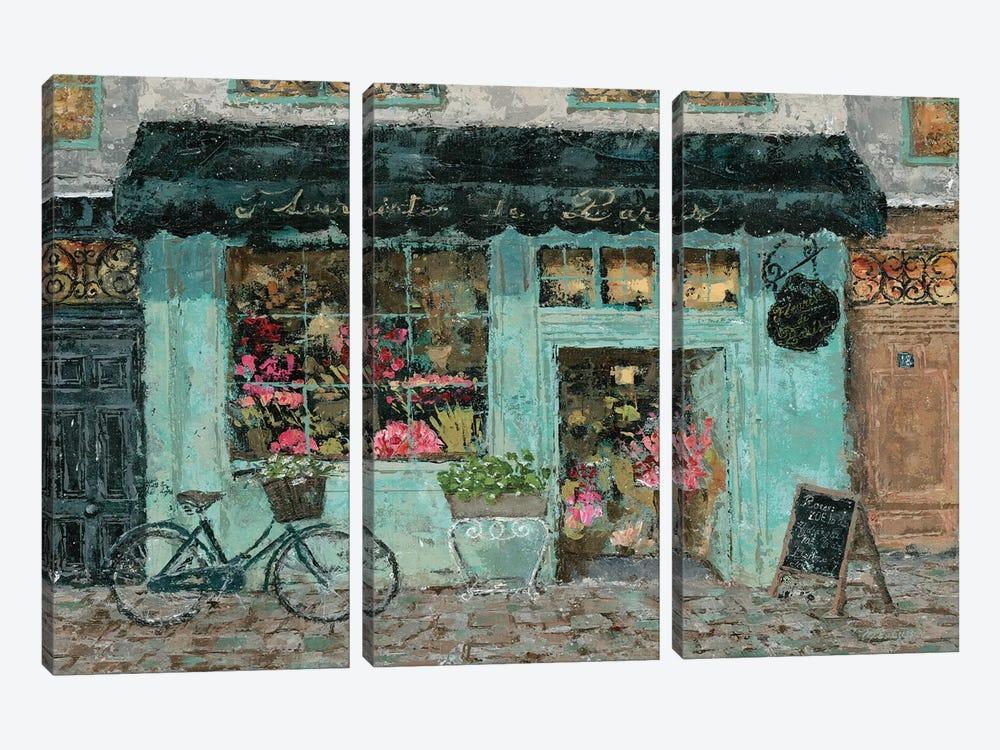 Parisian Flower Shop by Marie Elaine Cusson 3-piece Canvas Artwork