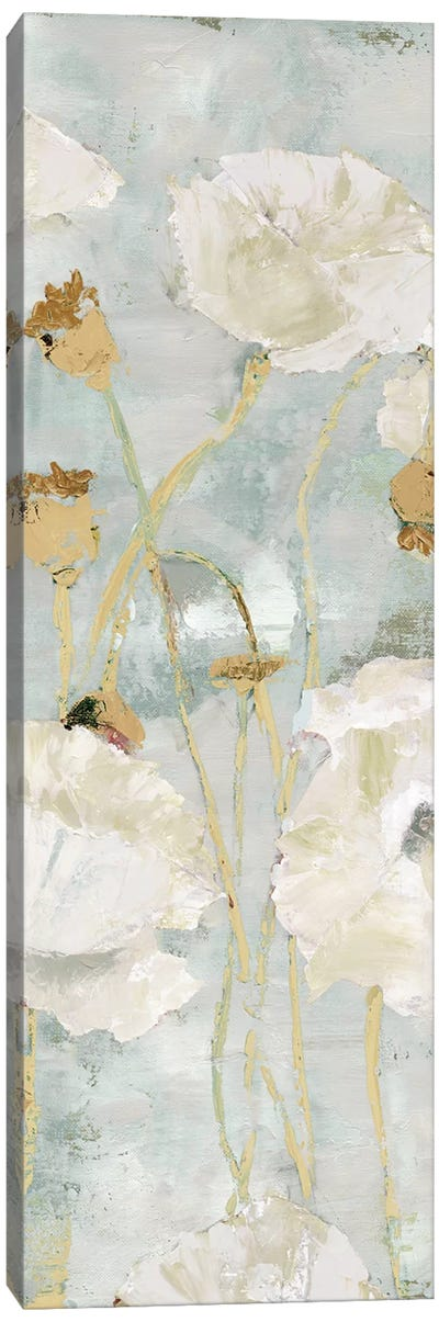 Poppies In The Wind Cream Panel I Canvas Art Print
